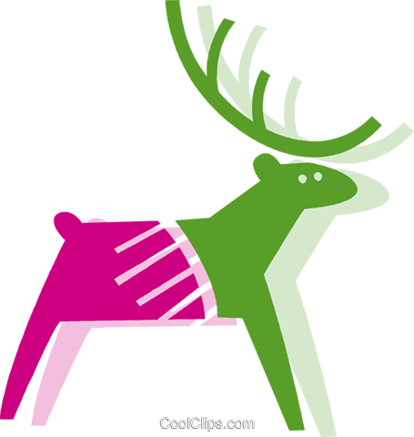 Reindeer Royalty Free Vector Clip Art illustration vc079448