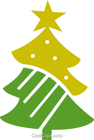 Christmas Trees Royalty Free Vector Clip Art illustration vc079458