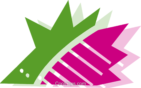 Porcupines Royalty Free Vector Clip Art illustration vc079475