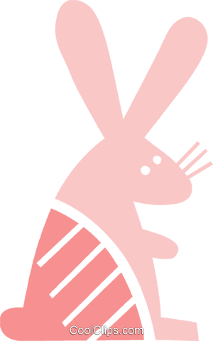 Rabbits Royalty Free Vector Clip Art illustration vc079476