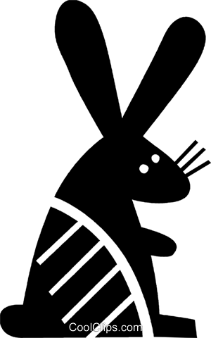 Rabbits Royalty Free Vector Clip Art illustration vc079477