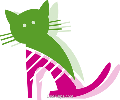 Cats Royalty Free Vector Clip Art illustration vc079484