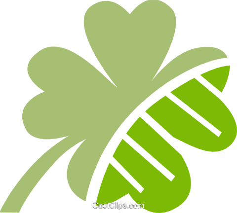 Shamrocks Royalty Free Vector Clip Art illustration vc079500