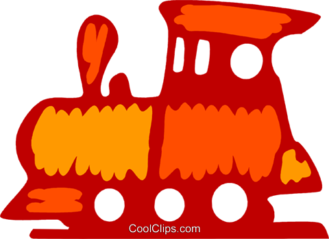 Toy Trains Royalty Free Vector Clip Art illustration vc079518