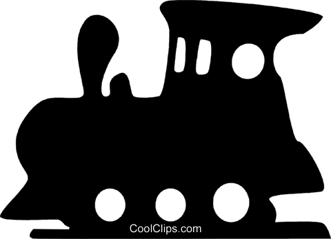 Toy Trains Royalty Free Vector Clip Art illustration vc079519