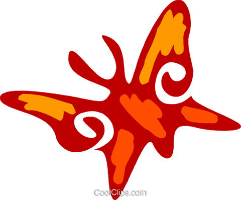 Butterflies Royalty Free Vector Clip Art illustration vc079536