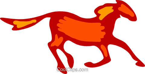 Horses Royalty Free Vector Clip Art illustration vc079539