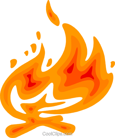 Campfire Royalty Free Vector Clip Art illustration vc079547