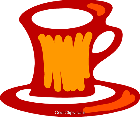 Cups of Coffee Royalty Free Vector Clip Art illustration vc079551