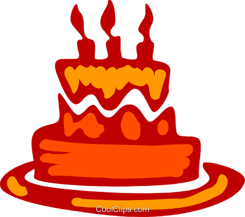 Birthday Cakes Royalty Free Vector Clip Art illustration vc079578