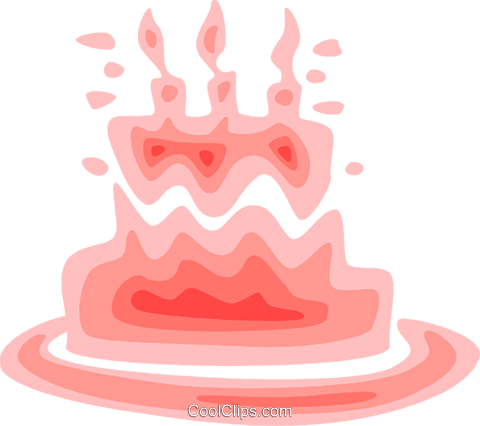 Birthday Cakes Royalty Free Vector Clip Art illustration vc079580