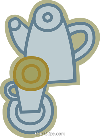 Teapots Royalty Free Vector Clip Art illustration vc079616