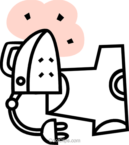 Irons Ironing Royalty Free Vector Clip Art illustration vc079629