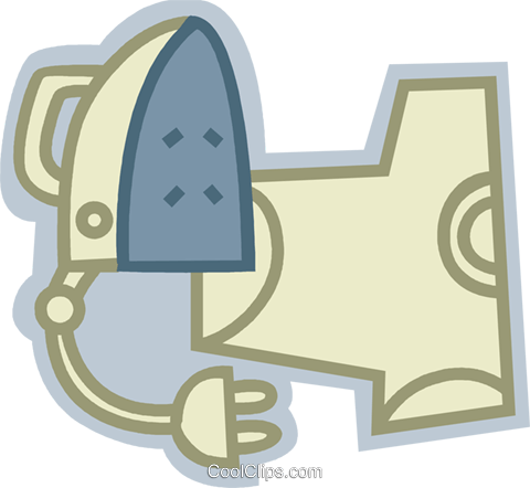 Irons Ironing Royalty Free Vector Clip Art illustration vc079631