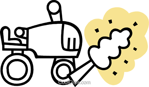 Tractors Royalty Free Vector Clip Art illustration vc079662