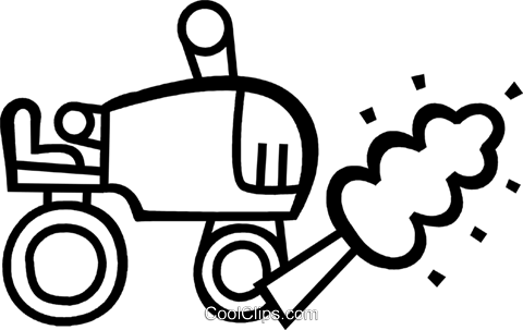 Tractors Royalty Free Vector Clip Art illustration vc079663