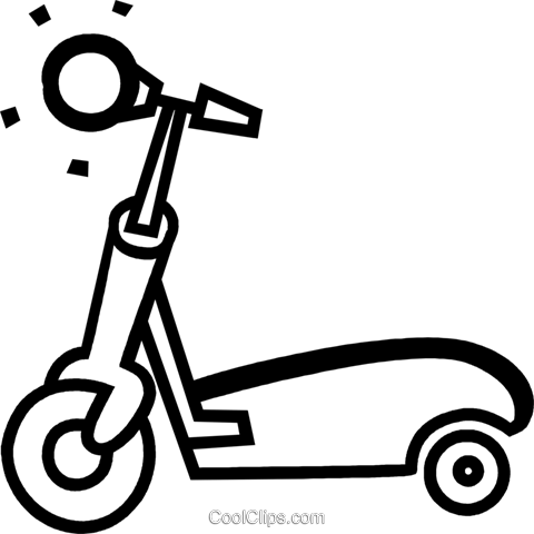 Scooters Royalty Free Vector Clip Art illustration vc079666