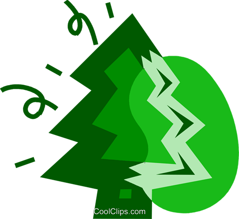 Christmas Trees Royalty Free Vector Clip Art illustration vc079749