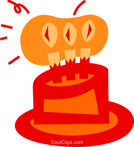 Birthday Cakes Royalty Free Vector Clip Art illustration vc079800