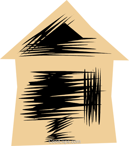 Urban Housing Royalty Free Vector Clip Art illustration vc079815