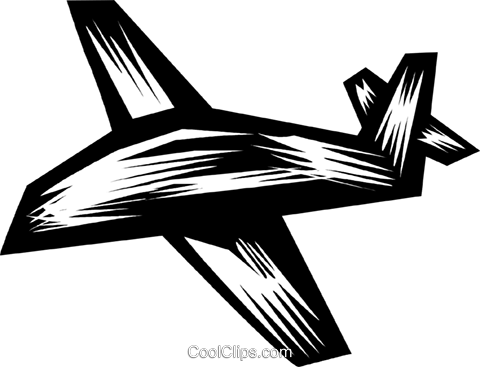 Commercial Jets Royalty Free Vector Clip Art illustration vc079825
