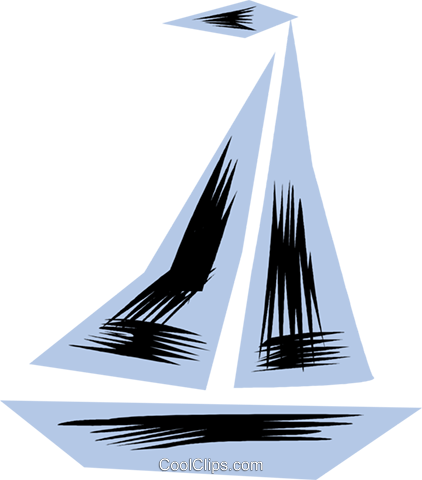 Sailboats Royalty Free Vector Clip Art illustration vc079845