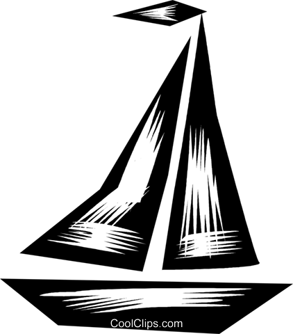 Sailboats Royalty Free Vector Clip Art illustration vc079846