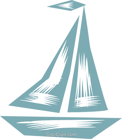 Sailboats Royalty Free Vector Clip Art illustration vc079847