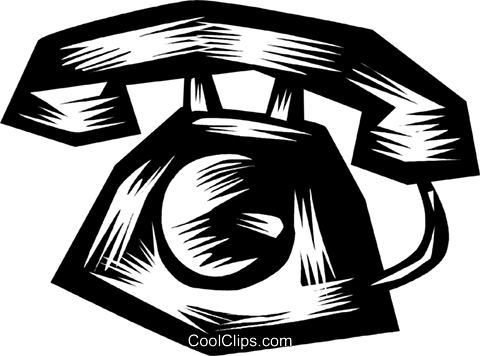 Home Phones Royalty Free Vector Clip Art illustration vc079870