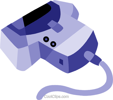 Hand Scanners Royalty Free Vector Clip Art illustration vc079890