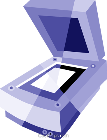 Flatbed Scanners Royalty Free Vector Clip Art illustration vc079893
