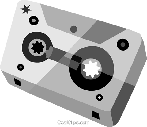 Cassette Tapes Royalty Free Vector Clip Art illustration vc079897