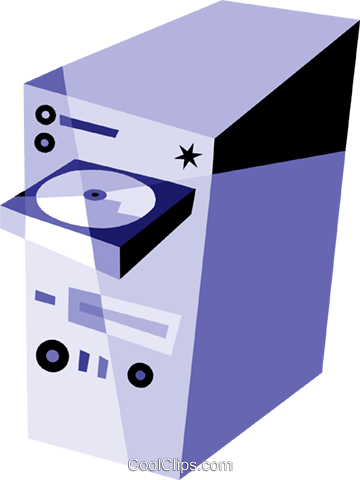 Computer Desktop Systems Royalty Free Vector Clip Art illustration vc079902