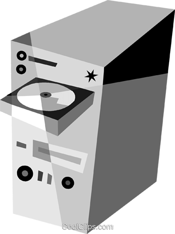 Computer Desktop Systems Royalty Free Vector Clip Art illustration vc079903