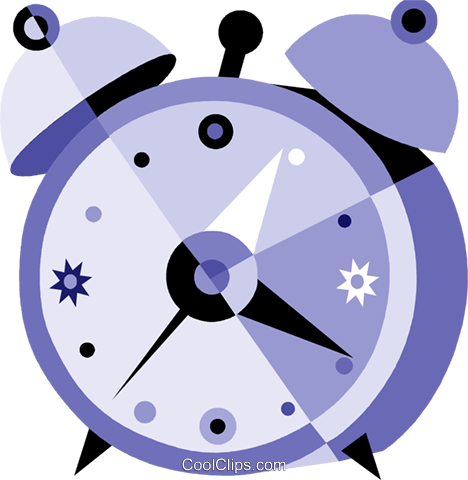 Alarm Clocks Royalty Free Vector Clip Art illustration vc079926