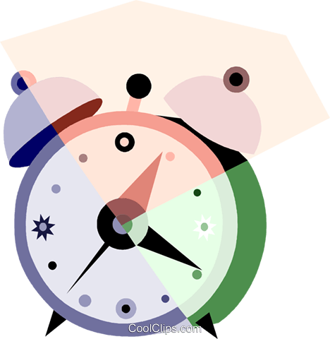 Alarm Clocks Royalty Free Vector Clip Art illustration vc079928