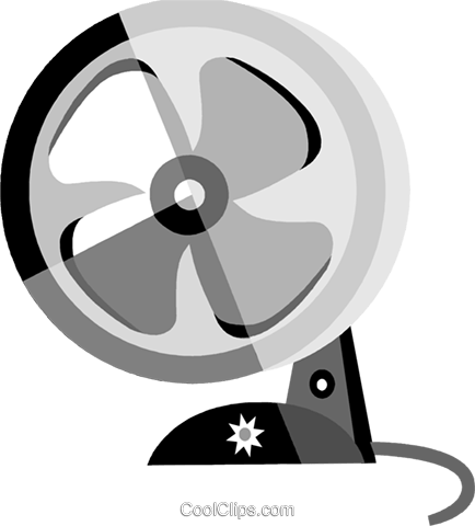 Electric Fan Royalty Free Vector Clip Art illustration vc079933