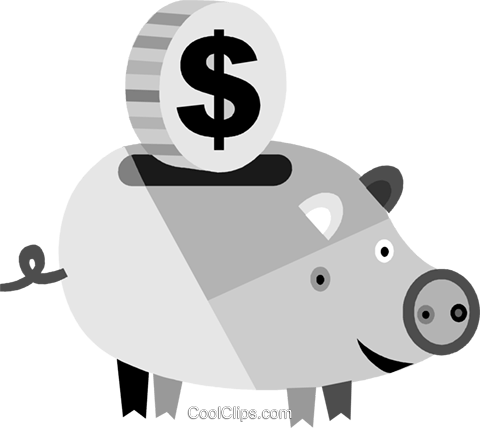 Piggy Banks Royalty Free Vector Clip Art illustration vc079942