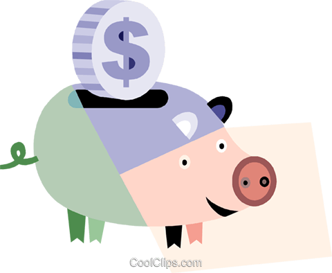 Piggy Banks Royalty Free Vector Clip Art illustration vc079943