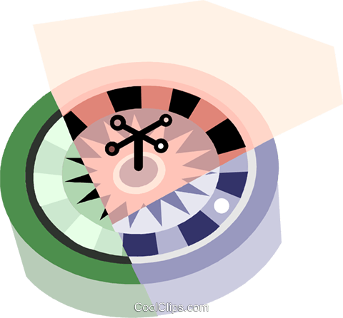 Roulette Royalty Free Vector Clip Art illustration vc079952