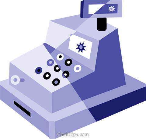 Cash Register Royalty Free Vector Clip Art illustration vc079953