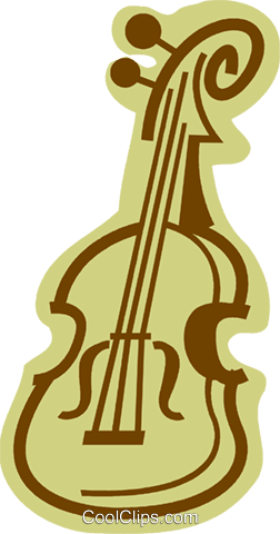 Violins and Fiddles Royalty Free Vector Clip Art illustration vc079965