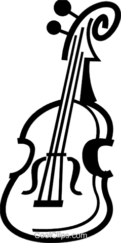 Violins and Fiddles Royalty Free Vector Clip Art illustration vc079966