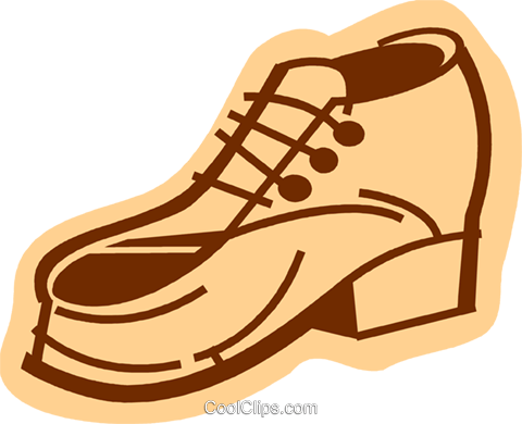 Dress Shoes Royalty Free Vector Clip Art illustration vc079968