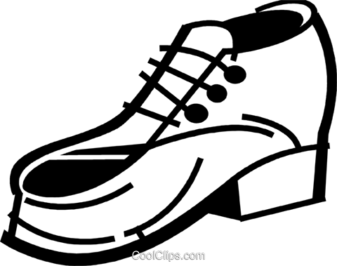 Dress Shoes Royalty Free Vector Clip Art illustration vc079969