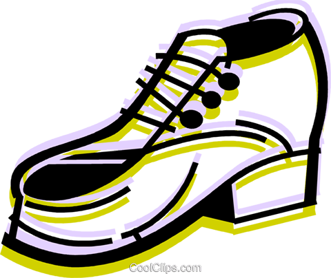 Dress Shoes Royalty Free Vector Clip Art illustration vc079970