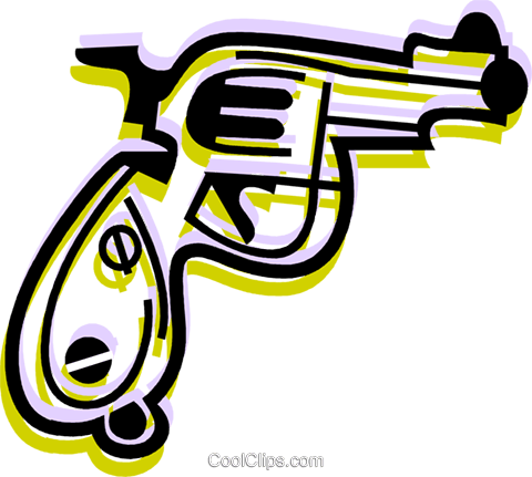 Guns Royalty Free Vector Clip Art illustration vc079982