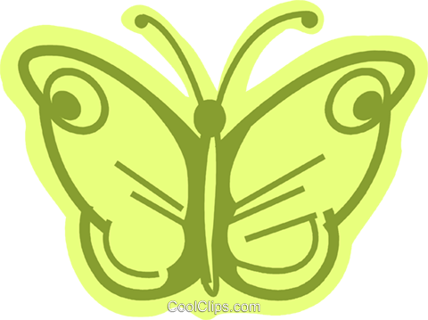 Butterflies Royalty Free Vector Clip Art illustration vc079983