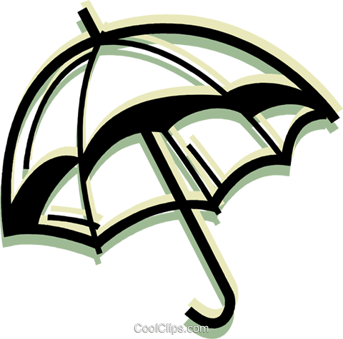 Umbrellas Royalty Free Vector Clip Art illustration vc079991