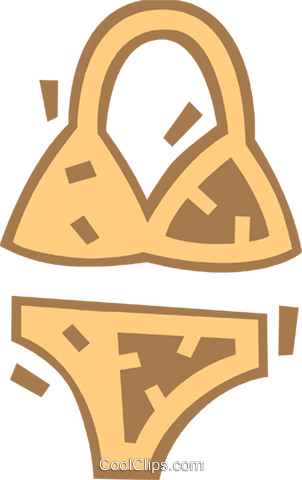Swimming Suits Royalty Free Vector Clip Art illustration vc080624